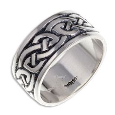 SR912 - Sterling silver endless knot ring, handcrafted in Cornwall, UK