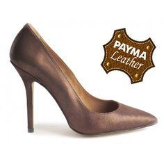 Stiletto piel bronce 49,90€  www.calzadospayma.com