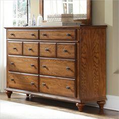 Broyhill Hayden Place 8 Drawer Dresser In Warm Golden Oak   4645 230    Lowest