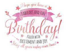 Fab And Fun Happy Birthday.