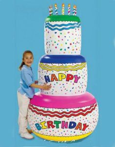 Jumbo Happy Birthday Inflatable Birthday Cake Party Decoration - - Birthday Cake in an instant! Make a birthday statement with this bithday cake ! This large, col Funny Happy Birthday Images, Happy Birthday Yard Signs, 33rd Birthday, Birthday Bash, Unicorn Birthday, Backyard Party Decorations, Birthday Decorations, Colorful Birthday Cake, Bithday Cake