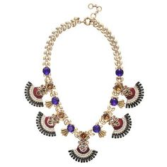 134 J.Crew - Jeweled fan necklace.