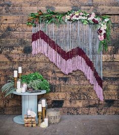 Would your rent a macrame backdrop for your ceremony, photo booth or decor  display? I'm loving the look adorned with flowers, dip-dyed or cut  asymmetrically.  Images: / 1 / 2 / 3 / 4 / 5 / 6 /  Hey! Check these out: Jul 5, 2016 bash goods, get the look spotted Shara  Zimmerman Comment Ju