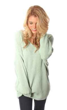 sweater weather sweater – mint This sweater from @Alea Mahone #riffraff looks so cozy. :] #ShopRIFFRAFF