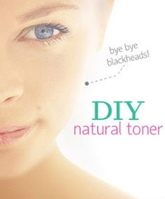 DIY Face Toner: No More Blackheads! Clear skin in a week or so....you'll notice the difference in days! #diy