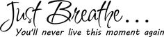 Just Breathe Wall Art wall sayings Home decor vinyl letters stickers decals -- Find out more about the great product at the image link. (This is an affiliate link and I receive a commission for the sales)