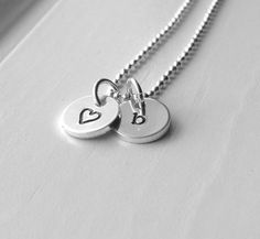 Tiny Letter b Necklace Sterling Silver Initial by GirlBurkeStudios, $27.50