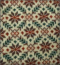 Fair Isle pattern from a great hand-knit sweater creator who actually lives on Shetland Island. Incredibly reasonable prices, too, for them. Fair Isle Knitting Patterns, Crochet Stitches Patterns, Knitting Charts, Crochet Chart, Knitting Stitches, Motif Fair Isle, Fair Isle Chart, Fair Isle Pattern, Christmas Knitting