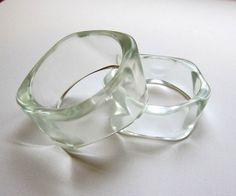 Crystal clear Lucite bangles....comfortable to wear! LOL