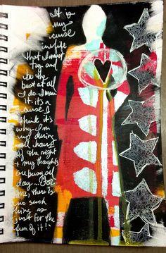 Tobi's Place: Art Journaling Catch-Up Journal D'art, Artist Journal, Creative Journal, Art Journal Pages, Art Journals, Journal Ideas, Mixed Media Journal, Mixed Media Collage, Collage Art
