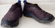 Womens MERRELL Hiking Shoes ALPINE MOCS Quilted BLACK Mocassin Slip On 5 Boots #Merrell #WalkingHikingTrail