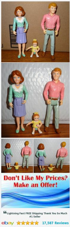 Playskool Family Doll House Mom Dad & Baby Girl Sister 3 Pc Vintage People - JB | eBay https://www.ebay.com/itm/352214383688