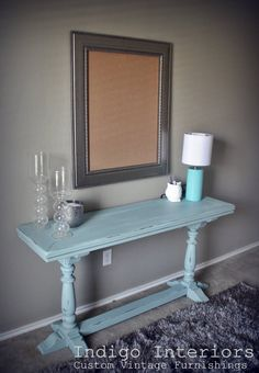 Vintage Sofa Table / Desk / Entry Table in by IndigoInteriors, $250.00 in love.