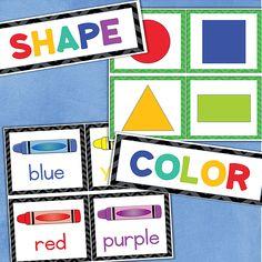 Kindergarten FOCUS WALL Letters, Numbers, Colors, Shapes | fishyrobb