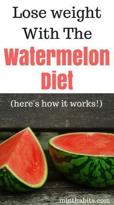 Want to lose weight? Check out the watermelon diet! It's a diet where you eat watermelon to lose weight and it can work great. Click here to learn how it works and get a watermelon diet plan and see results