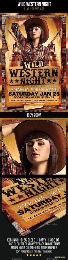 b60071456d0 Buy Wild Western Night by majkolthemez on GraphicRiver.