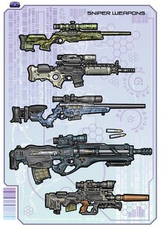 Sniper Rifles - Color by biometal79