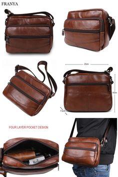 9f8aaf7121 2017 Fashion Genuine Leather handbag Men s Messenger Bags Man Portfolio  Office Bag Travel Shoulder Handbags elunico -in Crossbody Bags from Luggage    Bags ...