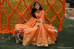 Pankhuri Awasthy's gorgeous orange lehenga