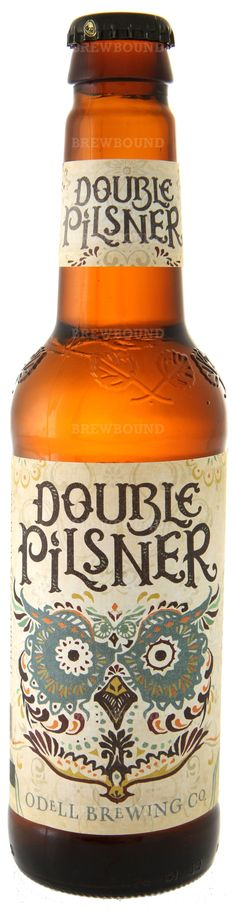 Odell Brewing Double Pilsner beer; I'll have to try this when I get back to CO. favorite brewery to date.