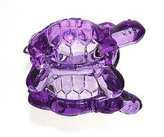 purple glass turtle