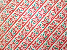 Vintage Wrapping Paper - Poinsettia Pattern - Full Sheet Christmas Gift Wrap. $5.00, via Etsy.