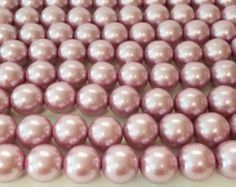 16mm Beads, Mauve 16mm Round Glass Pearl Bead, 16mm glass Beads, 25 Pearls, Pink Pearls, Round Beads, Loose Pearls by vickysjewelrysupply. Explore more products on http://vickysjewelrysupply.etsy.com
