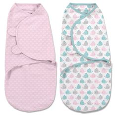 SwaddleMe Original Swaddle 2-pack Whales/Pink Stars (Small 0-3 months)