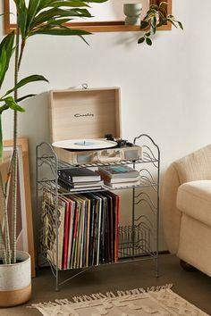 Corner Store Vinyl Storage Rack | Urban Outfitters Vinyl Record Storage Shelf, Record Rack, Storage Shelves, Vinyl Record Display, Vinyl Shelf, Record Stand, Record Player Table, Vinyl Record Player, Record Holder