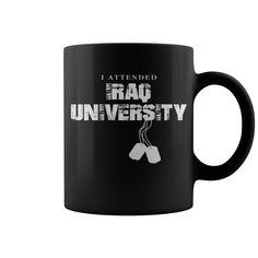 I Attended Iraq University HOT MUG : coffee mug, papa mug, cool mugs, funny coffee mugs, coffee mug funny, mug gift, #mugs #ideas #gift #mugcoffee #coolmug