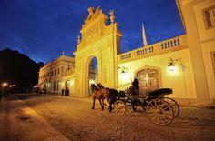 Go all-out on a suite at Tivoli Palácio de Seteais, a romantic five-star hotel with palatial interior design and views of Castelo dos Mouros and Palácio da Pena, two of Sintra's main attractions.