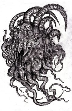 Lovecraft - Shub-Niggurath, Goat with a 1000 Young by KingOvRats.deviantart.com on @DeviantArt