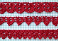 Crochet edgings the easy way -  Instead of making a chain as long as the edging needs to be, the pattern is written to be worked back and forth in short rows, so you can adjust the length to fit as you work