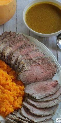 Rabillo de ternera asado con salsa de naranja. Receta