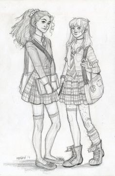 Hermione and Ginny by meabhdeloughry.deviantart.com on @DeviantArt