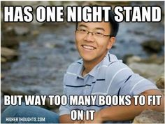 Chuckle, but seriously, a large stack of books can unbalance a night stand pretty quick.