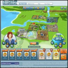 EnerCities- To teach people a little bit about global energy issues, the company has built a SimCity type of game, available on Facebook and a stand alone website. Players are tasked with the objective to reach a level five city with a population of 200 citizens. Sounds simple right?