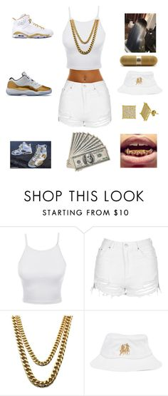 """white and gold"" by aleisharodriguez ❤ liked on Polyvore featuring LE3NO, Topshop, Beats by Dr. Dre and Breezy Excursion"
