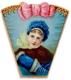 Vintage Clip Art - Victorian Lady in Winter - The Graphics Fairy