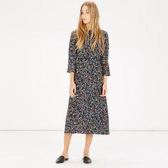 Warehouse Ditsy Floral Midi Dress   Debenhams