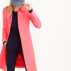 The last layer should make a great first impression: this flattering, feminine jacket is cut from our signature double-cloth wool, which we've used in our collection every single year since 2001. It takes color beautifully and is made exclusively for us by Italy's Manifattura di Carmignano mill (known the world over for its exceptional woolen fabrics).