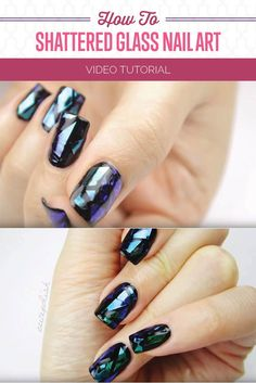 How To Perfect Shattered Glass Nail Art | Best Beauty Trends by Makeup Tutorials at http://makeuptutorials.com/how-to-shattered-glass-nail-art-design/