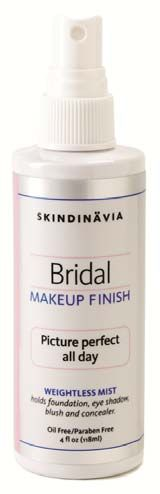 Previous pinner said.. Skindinavia Bridal Makeup Finish: I used this on my wedding day. Makeup stayed on perfect from the moment I put it on until we arrived at our honeymoon suite. HIGHLY recommended!