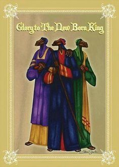 Glory to the New Born King - Afircan American Christmas Cards By Felicia Greenlee New Year Greetings, Happy Birthday Greetings, Christmas Greetings, Christmas Cards, Merry Christmas, Xmas, African Christmas, Black Christmas, Christmas Pictures