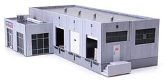 The Acme Transfer Warehouse is a generic, modular warehouse for your model railroad modeled after tilt-up style construction so common in North America from the through today. Tilt-up … Model Training, Standard Gauge, Model Train Layouts, Small Shelves, Paper Models, Classic Toys, Windows And Doors, Warehouse, Locker Storage