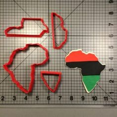 Kwanzaa Africa Cookie Cutter Set