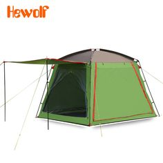 274.98$  Watch here - http://alibm2.worldwells.pw/go.php?t=32740153296 - Hewolf 5-8 person Large window square top camping tent ultralarge rainproof camping family outdoor tent with bottom 274.98$