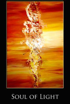 Title: Soul of Light  - Medium: Mixed media - Support: canvas, black p...