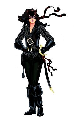 Pirate catwoman.  PSSST can we do a pirate rogue gallery AND historical ones???????