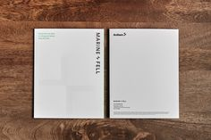 Marine + Fell by Anthem Properties - Free Agency Creative Print Design, Graphic Design, Brochure Design, Vancouver, Typography, Branding, Fall, Creative, Letterpress